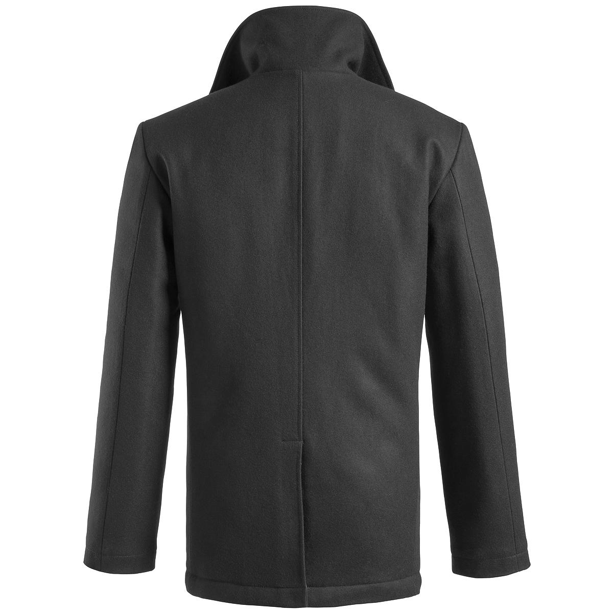 304eec05060 Sentinel Surplus US Navy Pea Coat Classic Style Warm Mens Army Reefer  Jacket Wool Black