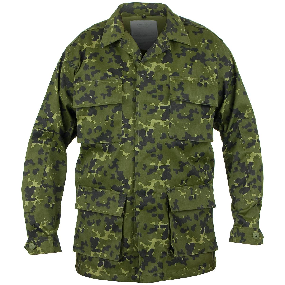 Mil-Tec-Hombres-Combate-Tactico-Bdu-Camisa-Chaqueta-Uniforme-Militar-Danesa-M84