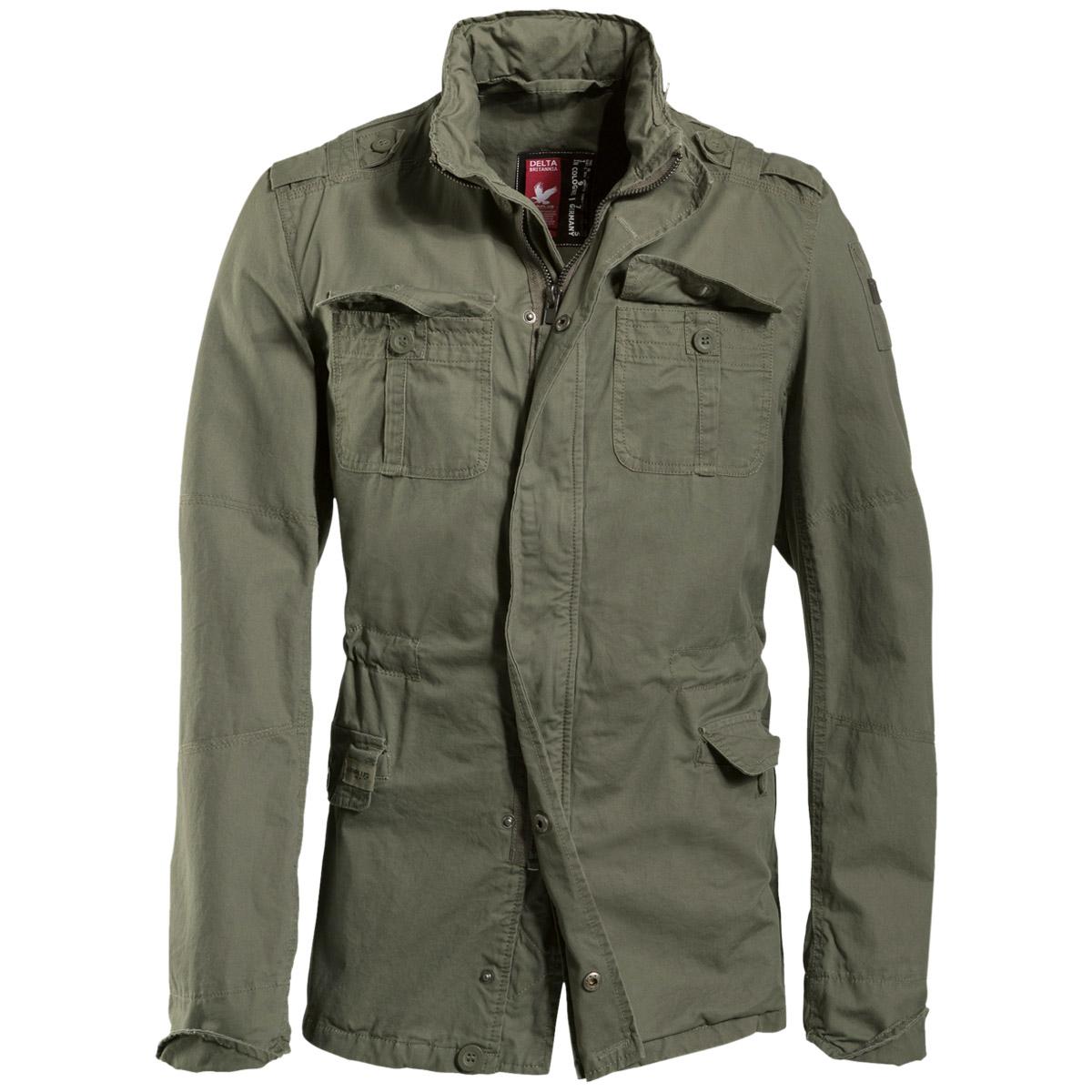 surplus delta britannia jacket military coat army combat mens parka olive washed ebay. Black Bedroom Furniture Sets. Home Design Ideas