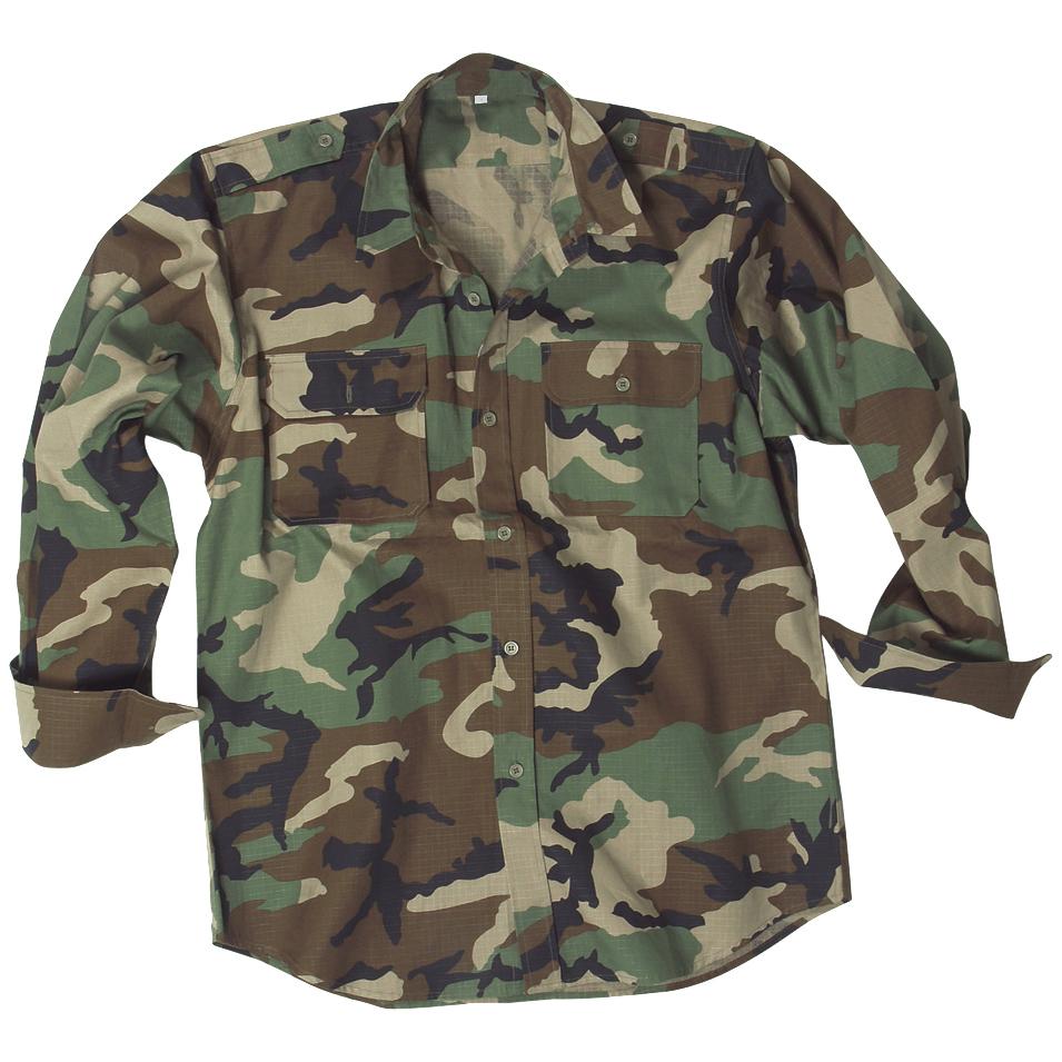 Mil-Tec-Hombres-Manga-Larga-Uniforme-Militar-Del-Ejercito-Camisa-Algodon-Caza-Su