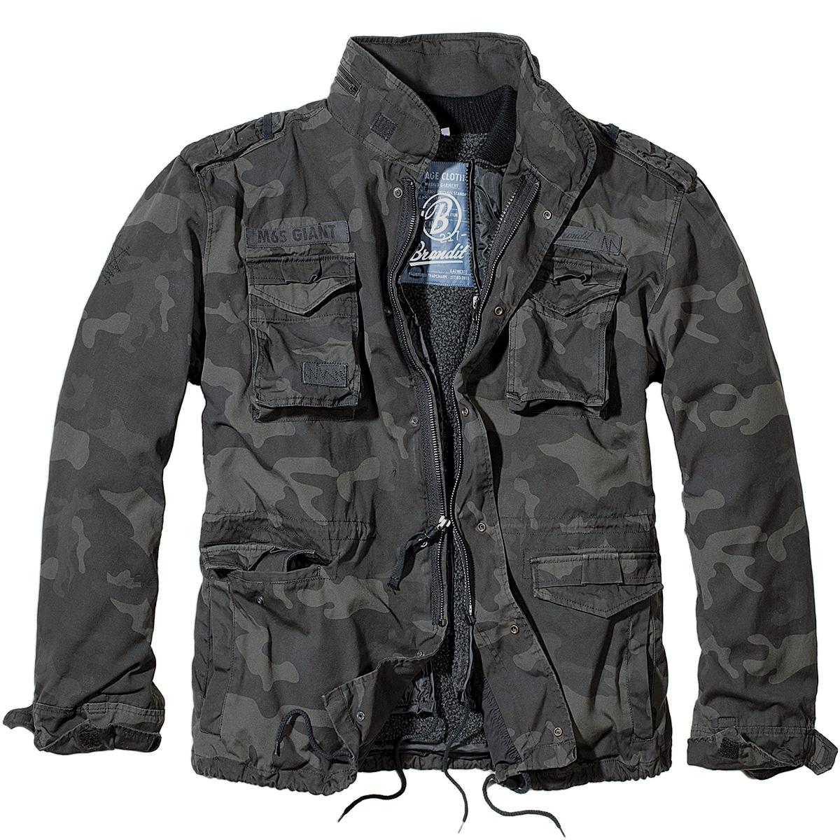 Brandit M65 Giant Field Jacket Mens Army Coat Vintage Warm ...