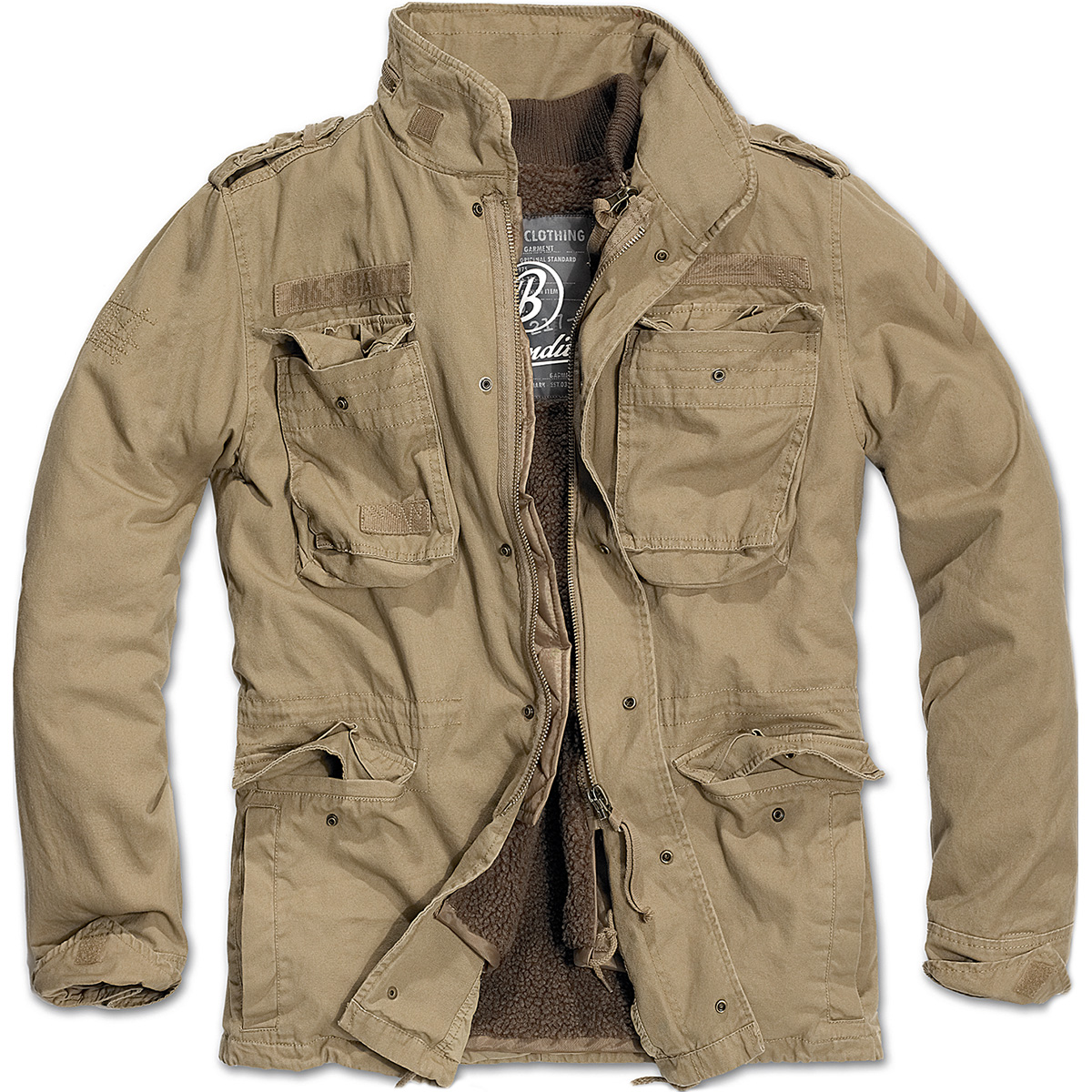 b5511074a2df Sentinel BRANDIT M65 GIANT MILITARY FIELD JACKET WARM MENS LINER VINTAGE  ARMY COAT CAMEL