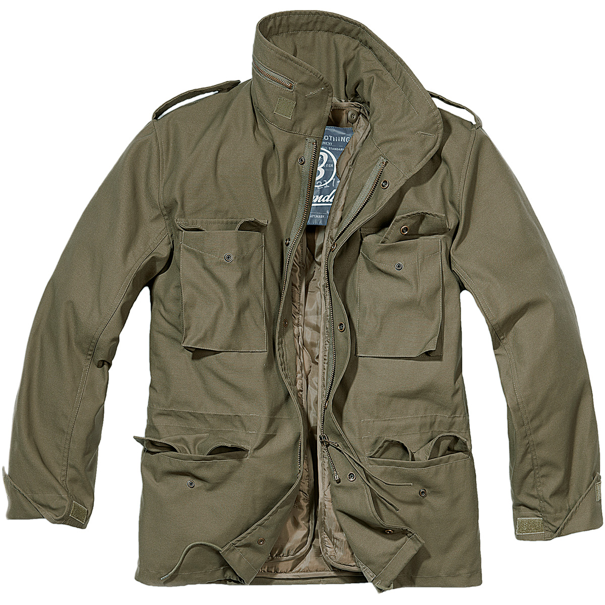 brandit classic m65 mens army field jacket warm travel parka military coat olive ebay. Black Bedroom Furniture Sets. Home Design Ideas