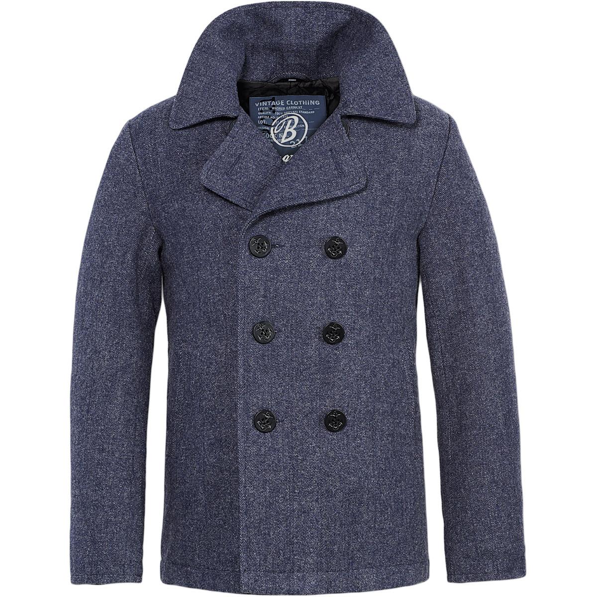 Navy blue mens pea jacket