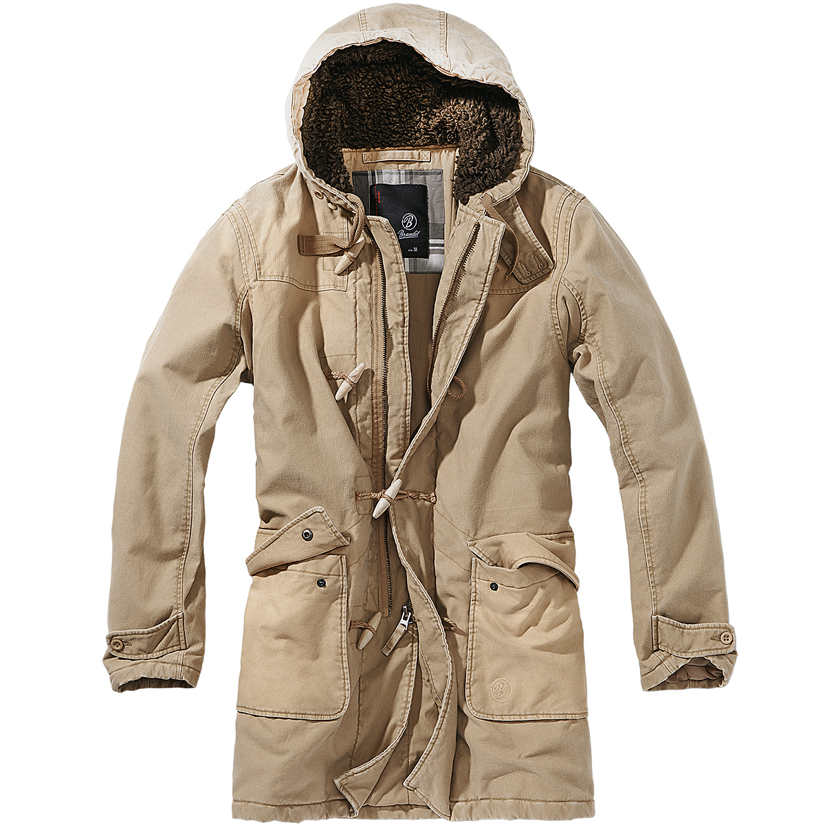 Brandit Woodson Mens Parka Warm Winter Military Coat Hooded ...