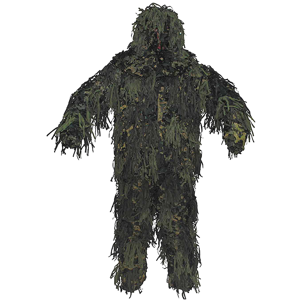 cb7ec49aba7 Details about Mfh Ghillie Yowie Set Camouflage Suit Airsoft Hunting 3D Body  System Woodland