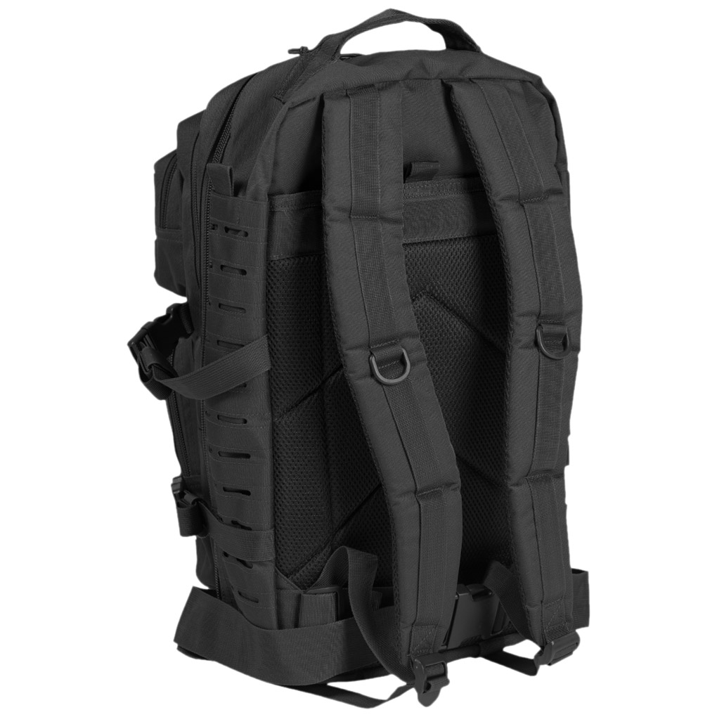 US Tactical Assault Pack MOLLE Backpack 36L Laser Cut Rucksack Multitarn Black