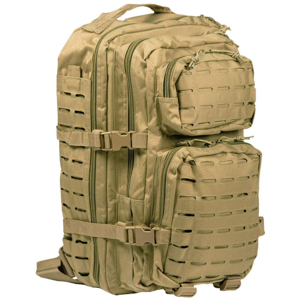DARK COYOTE LASER CUT Molle RUCKSACK 20L Regular Assault Pack BACKPACK Army