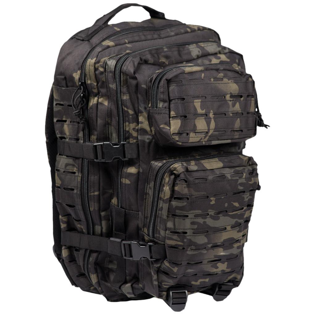 1c4df028e93b1 Plecak Mil-Tec US Assault Laser Duży Multitarn Black Plecak Mil-Tec US  Assault Laser Duży Multitarn Black