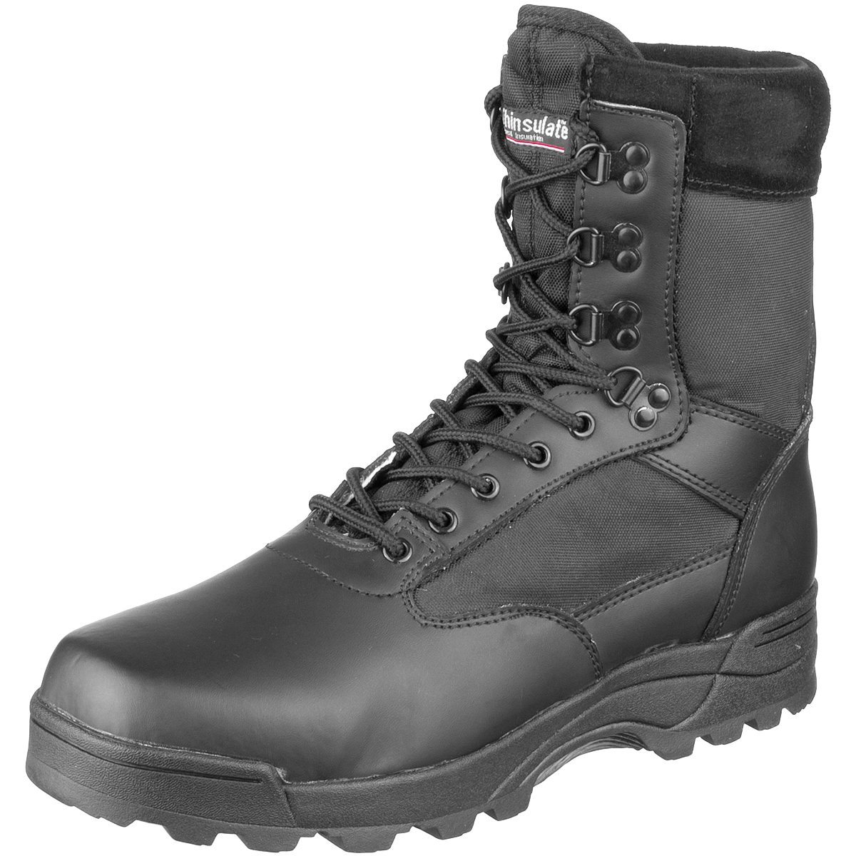 Sentinel Brandit Tactical Military Combat Boots Security Police Leather  Footwear Black ed3fcb6e445