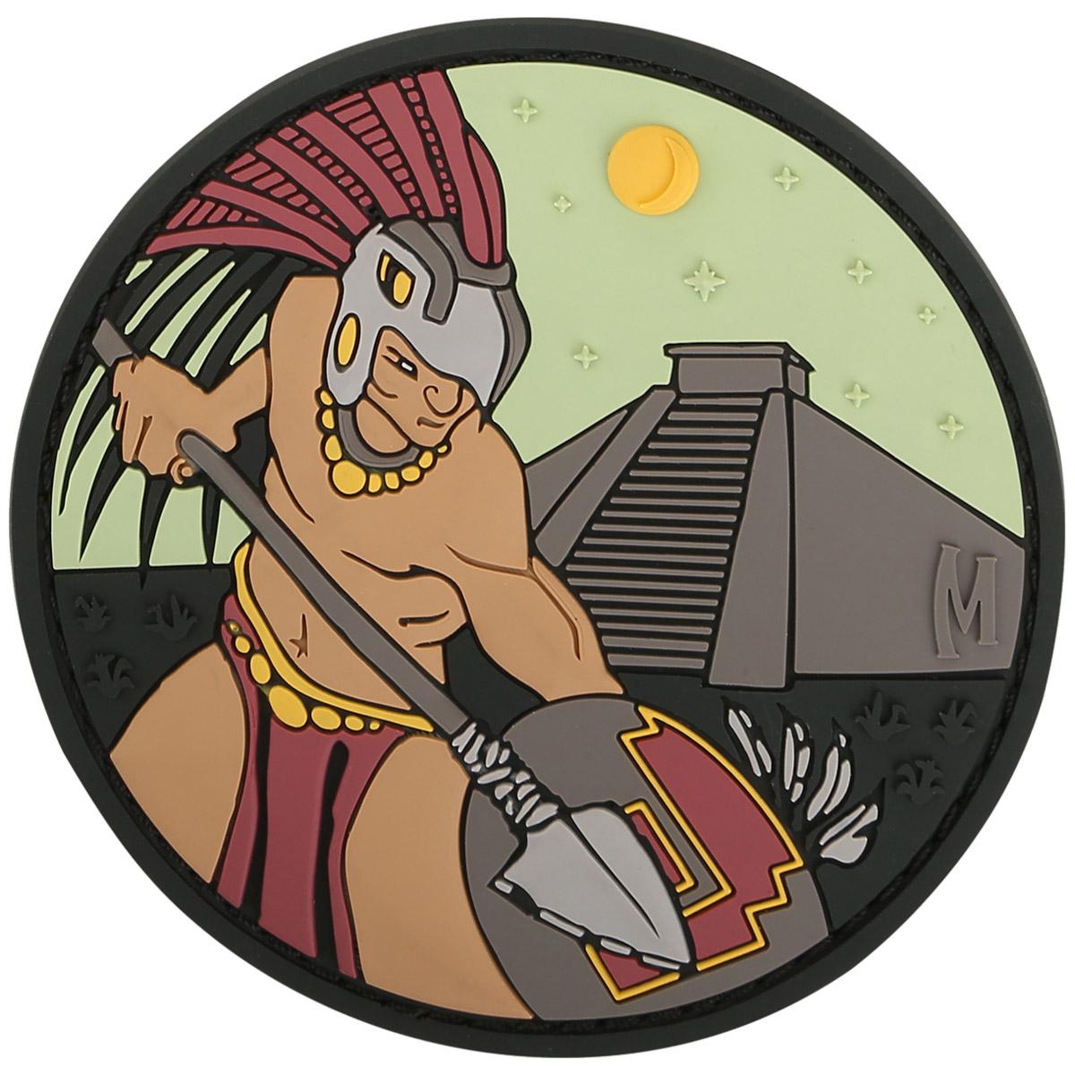 Maxpedition Aztec Warrior 3D PVC Hook Rubber Colour Heritage Cool Morale Patch