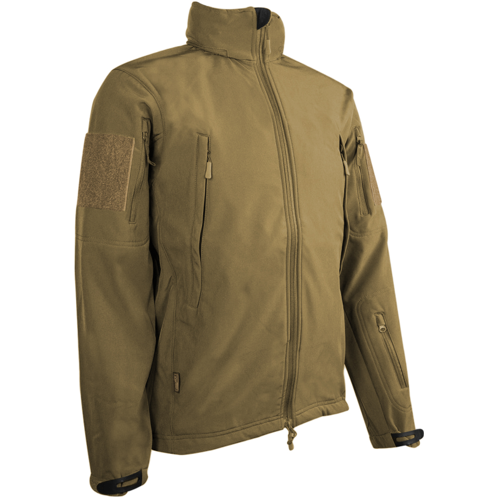 Sentinel Highlander Tactical Army Soft Shell Mens Waterproof Hooded  Military Jacket Tan fe87f071360