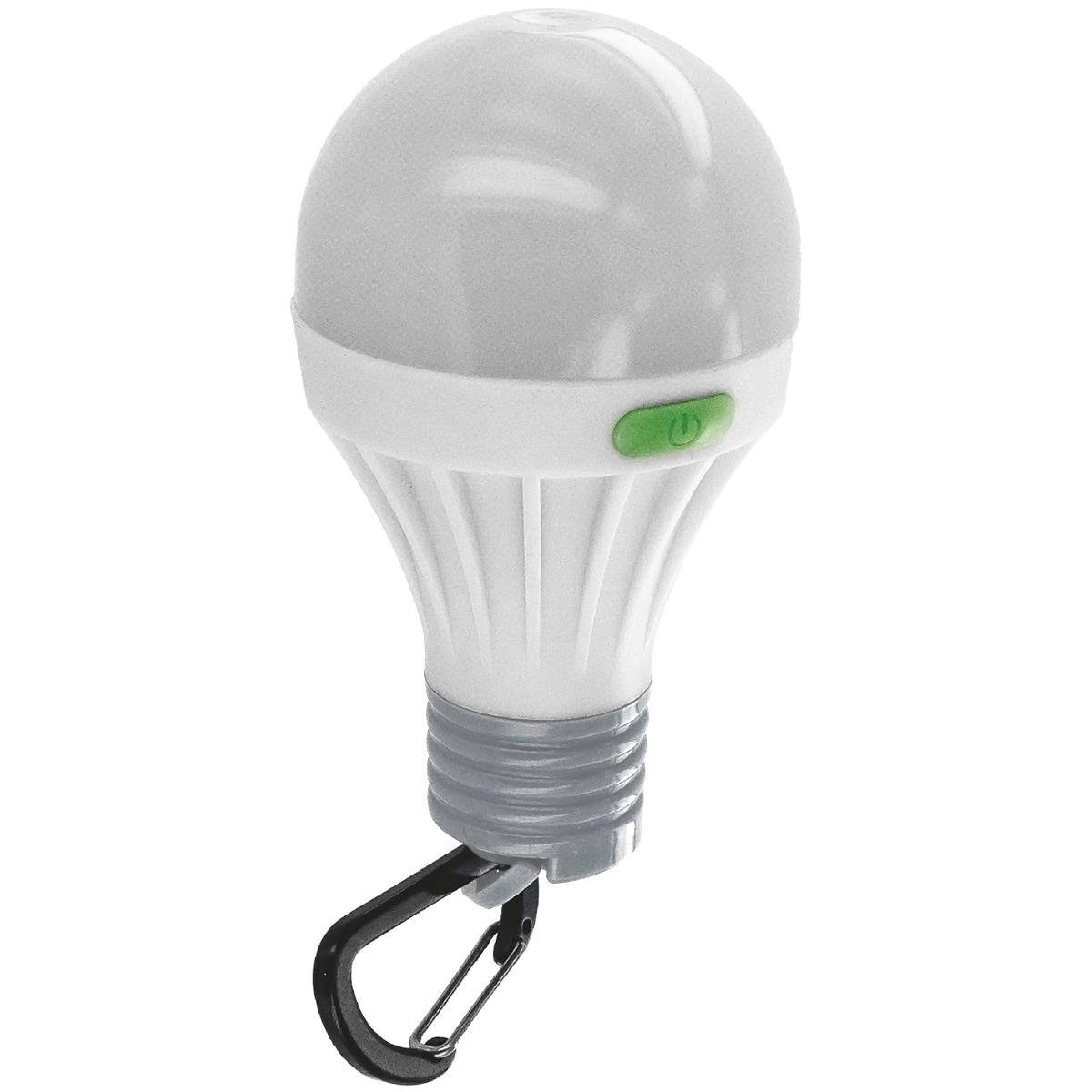 1 W DEL Batterie Ampoule avec MOUSQUETON idéal pour le camping et Tentes