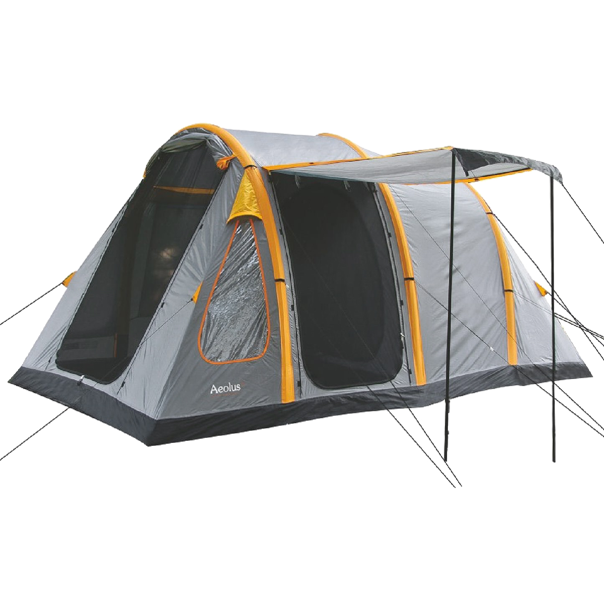 Sentinel Highlander Aeolus 4 Person Large Family Inflatable Tunnel C&ing Tent Rock Grey  sc 1 st  eBay & Highlander Aeolus 4 Person Large Family Inflatable Tunnel Camping ...