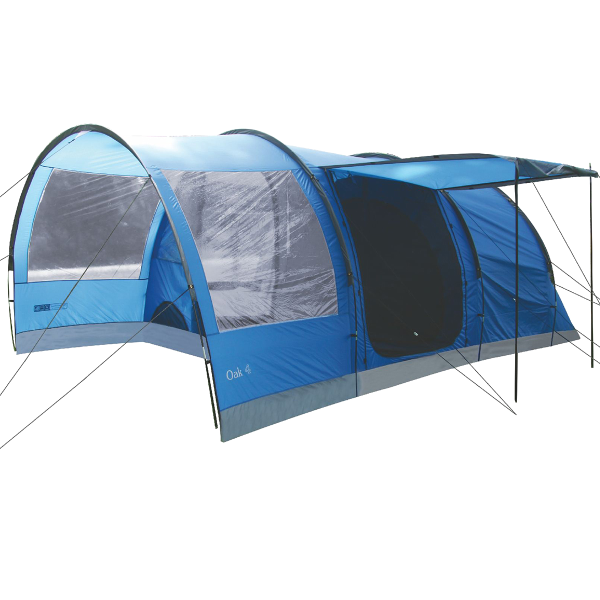 Details about Highlander Oak 4 Person Large Family C&ing Holiday Tunnel Tent Imperial Blue  sc 1 st  eBay & Highlander Oak 4 Person Large Family Camping Holiday Tunnel Tent ...