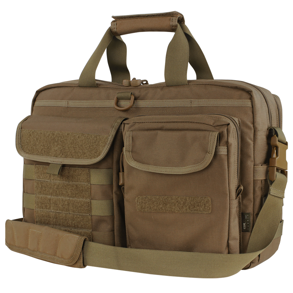 Sentinel Condor Metropolis Tactical Laptop Shoulder Messenger Military Briefcase Brown