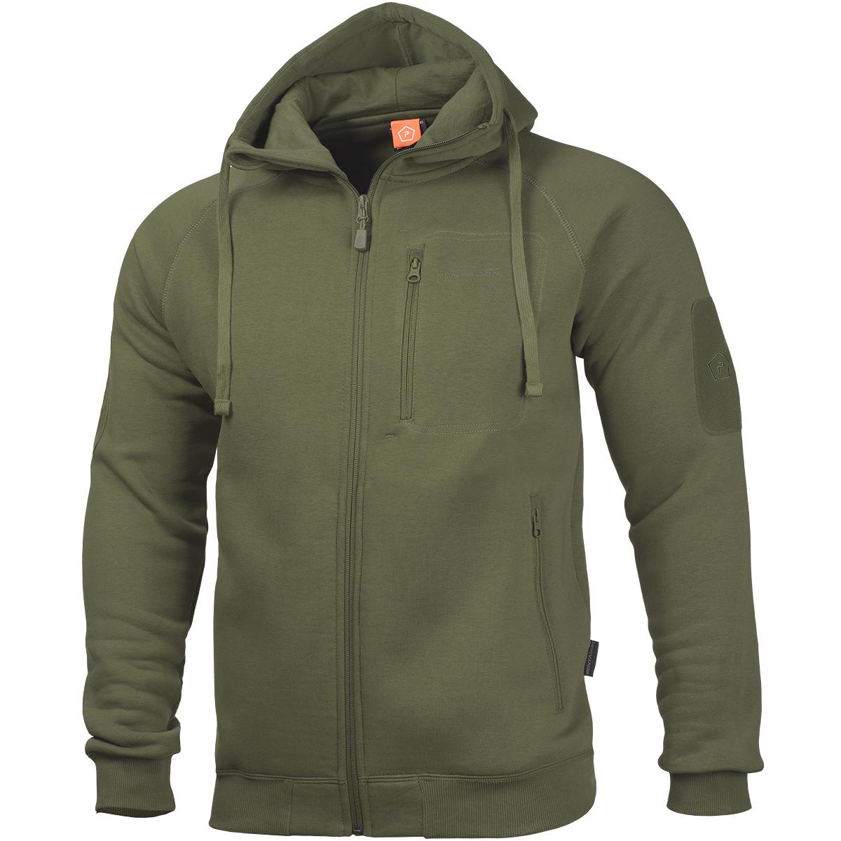 Details zu Pentagon Leonidas 2.0 Pullover Warme Herren Jacke Mit Kapuze Jagd Pullover Oliv