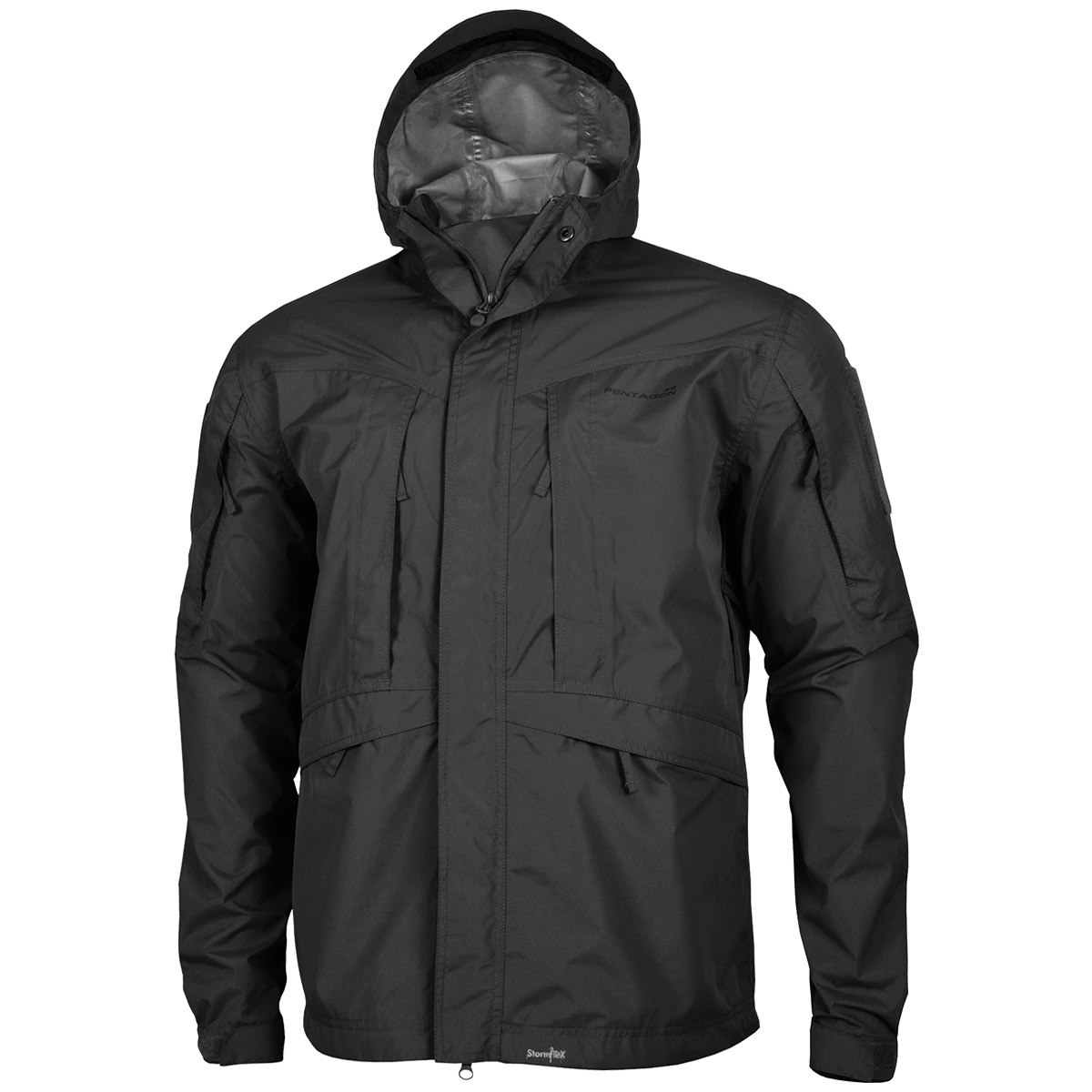 7952d645a Sentinel Pentagon Monsoon Tactical Rain Shell Mens Waterproof Jacket Hiking  Hunting Black