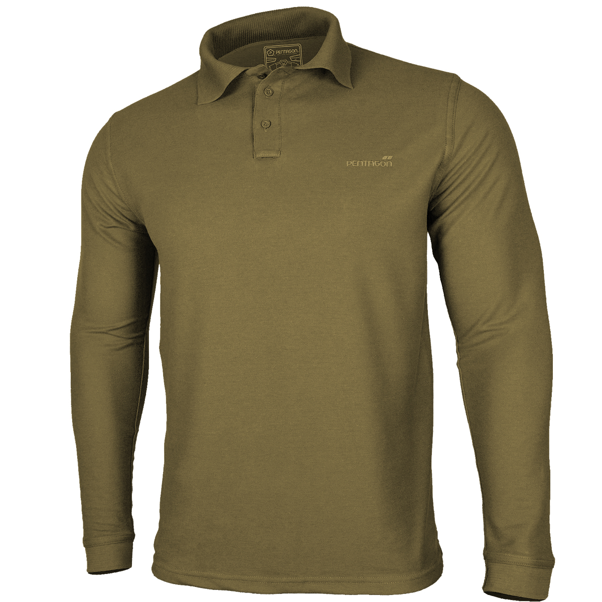 Details about Pentagon Polo 2.0 Shirt Long Sleeve Army Combat Tactical Top  Casual Wear Coyote 7574838840c