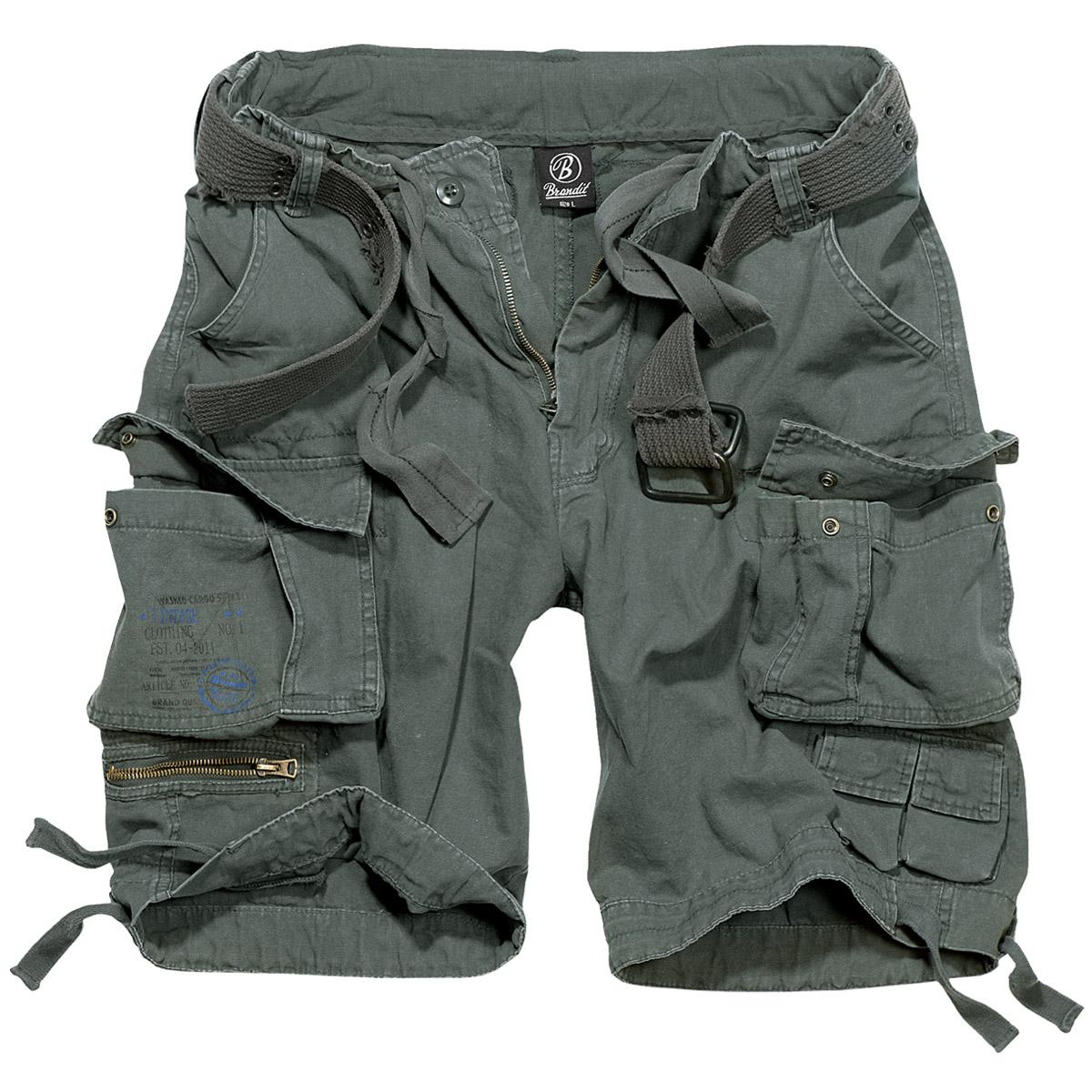 brandit savage vintage herren cargo combat shorts sommer wandern anthrazit ebay. Black Bedroom Furniture Sets. Home Design Ideas