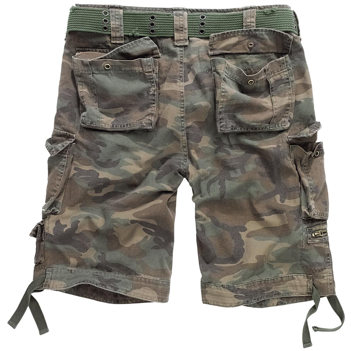 Brandit Savage Vintage Army Mens Combat Cargo Shorts