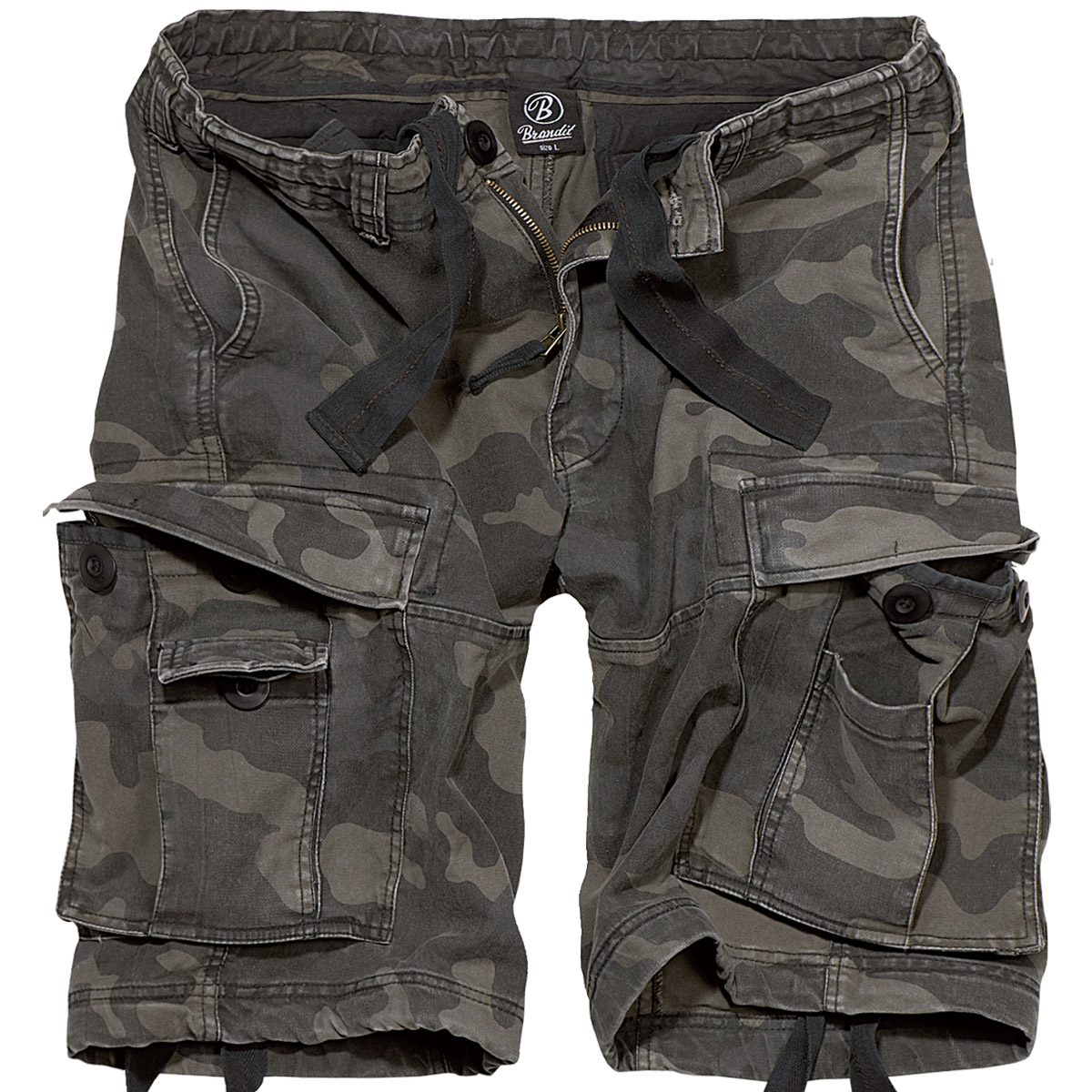 Sentinel Brandit Vintage Classic Combat Cargo Mens Army Military Shorts  Camping Dark Camo 3fdec9a6e51