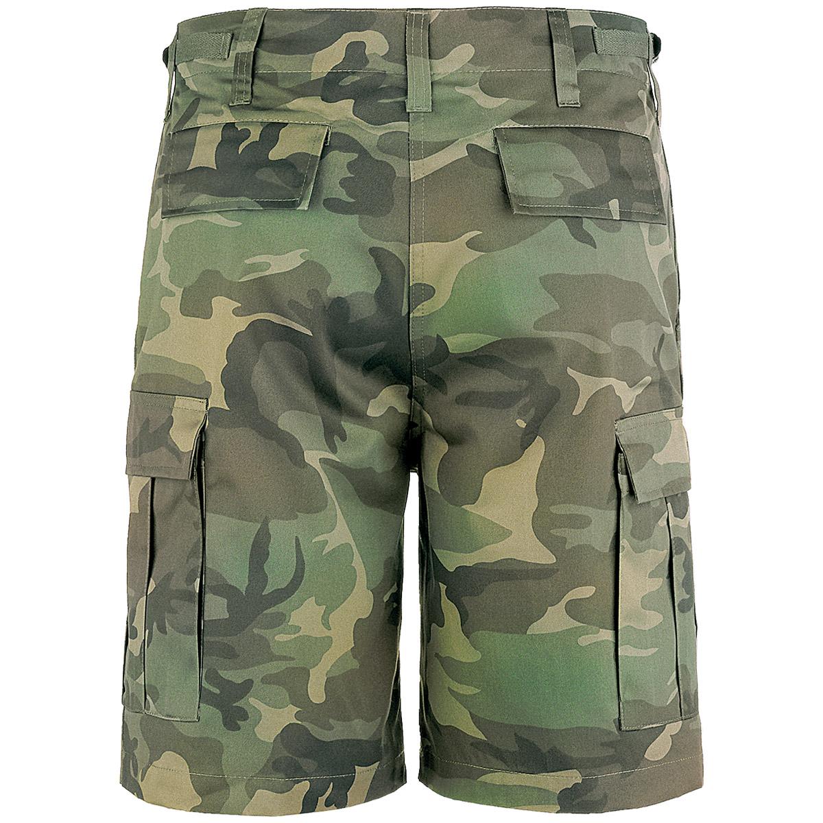 Brandit Combat Ranger Shorts Cargo Army Military Pages Pocket Bermuda