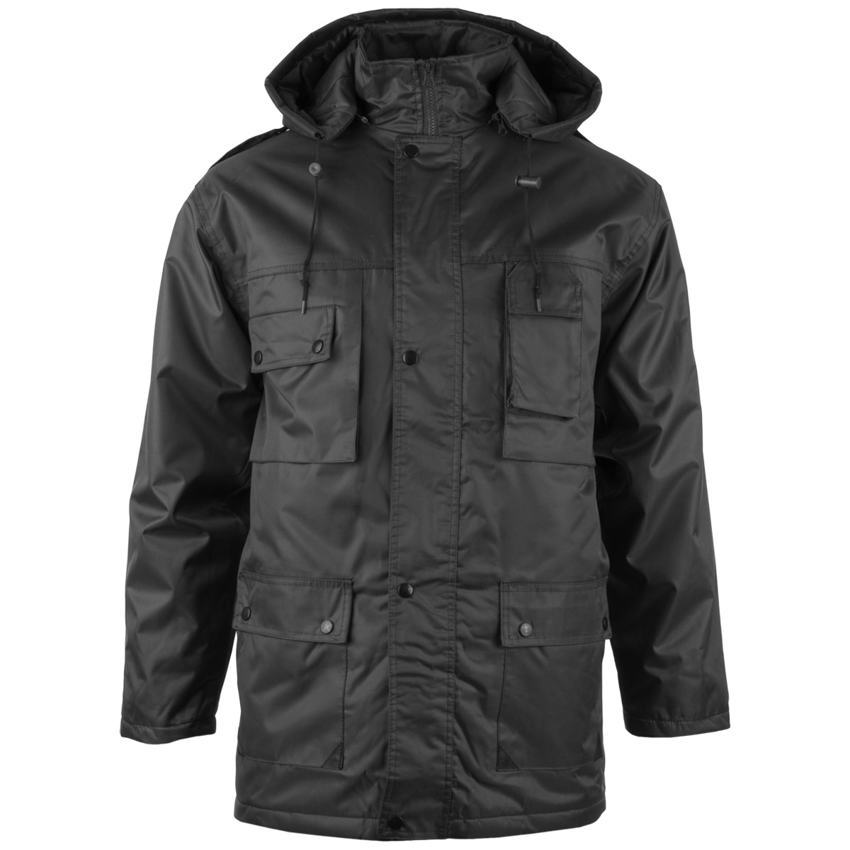 Mil-Tec Parka Dubon Mens Long Hooded Jacket Warm Winter Quilted Coat Cadet Black