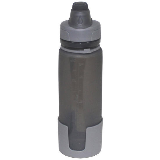 Fox outdoor foldable drinking bottle grey water for Perfect drink pro scale