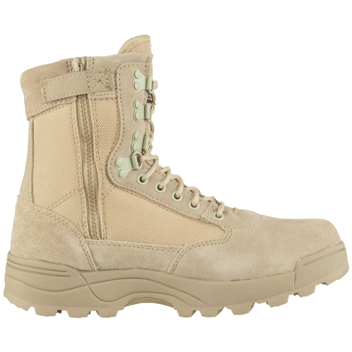 Details about Brandit Tactical Military Combat Side Zip Mens Boots Suede Leather Khaki Camel