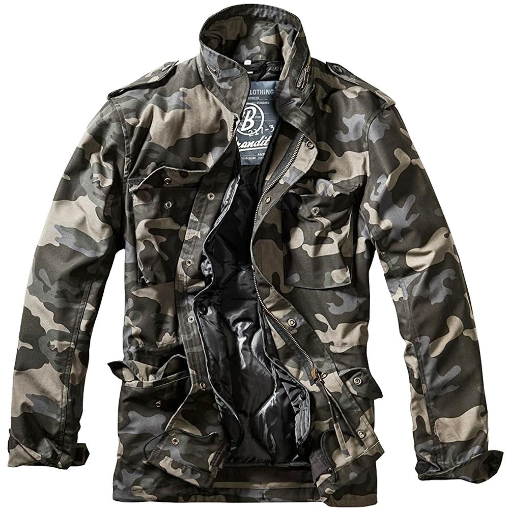 Details about Brandit M 65 Standard Jacket Patrol Military Mens Coat Tactical Parka Dark Camo