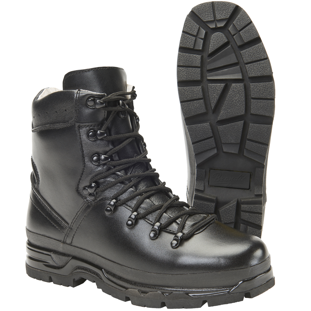 d660861a30689a Sentinel Brandit BW Mountain Boots Leather Hiking Tactical Outdoor Mens  Footwear Black