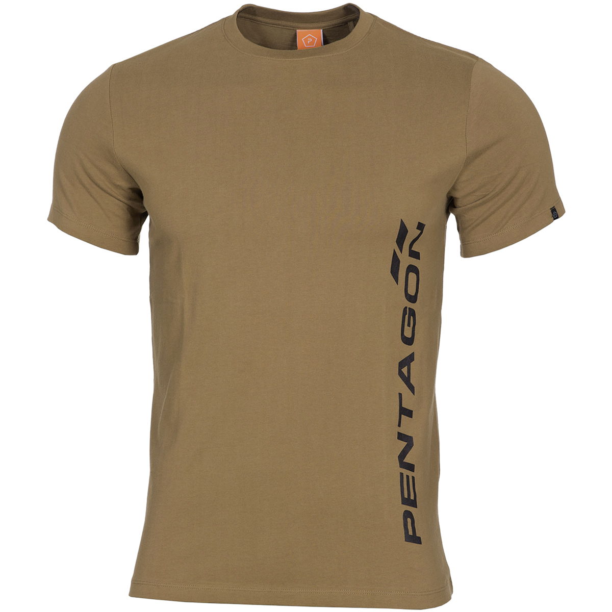 Pentagon ageron t shirt vertical logo gym workout top mens for Logo dress shirts no minimum