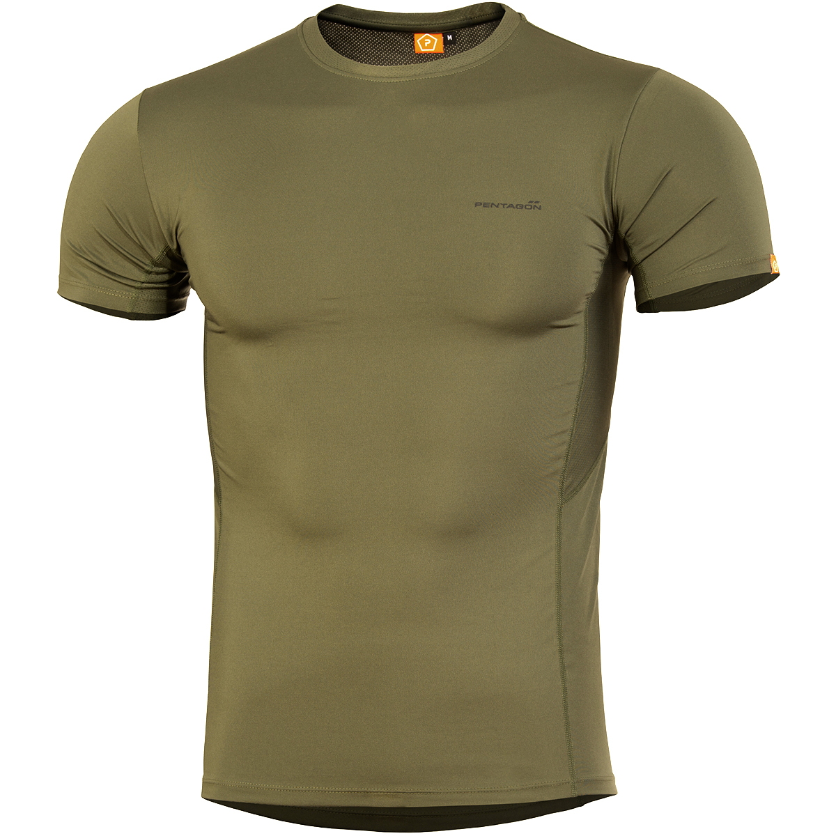 Pentagon Apollo Tac-Fresh T-Shirt Mens Gym Outdoor Workout Quick Dry Top Coyote