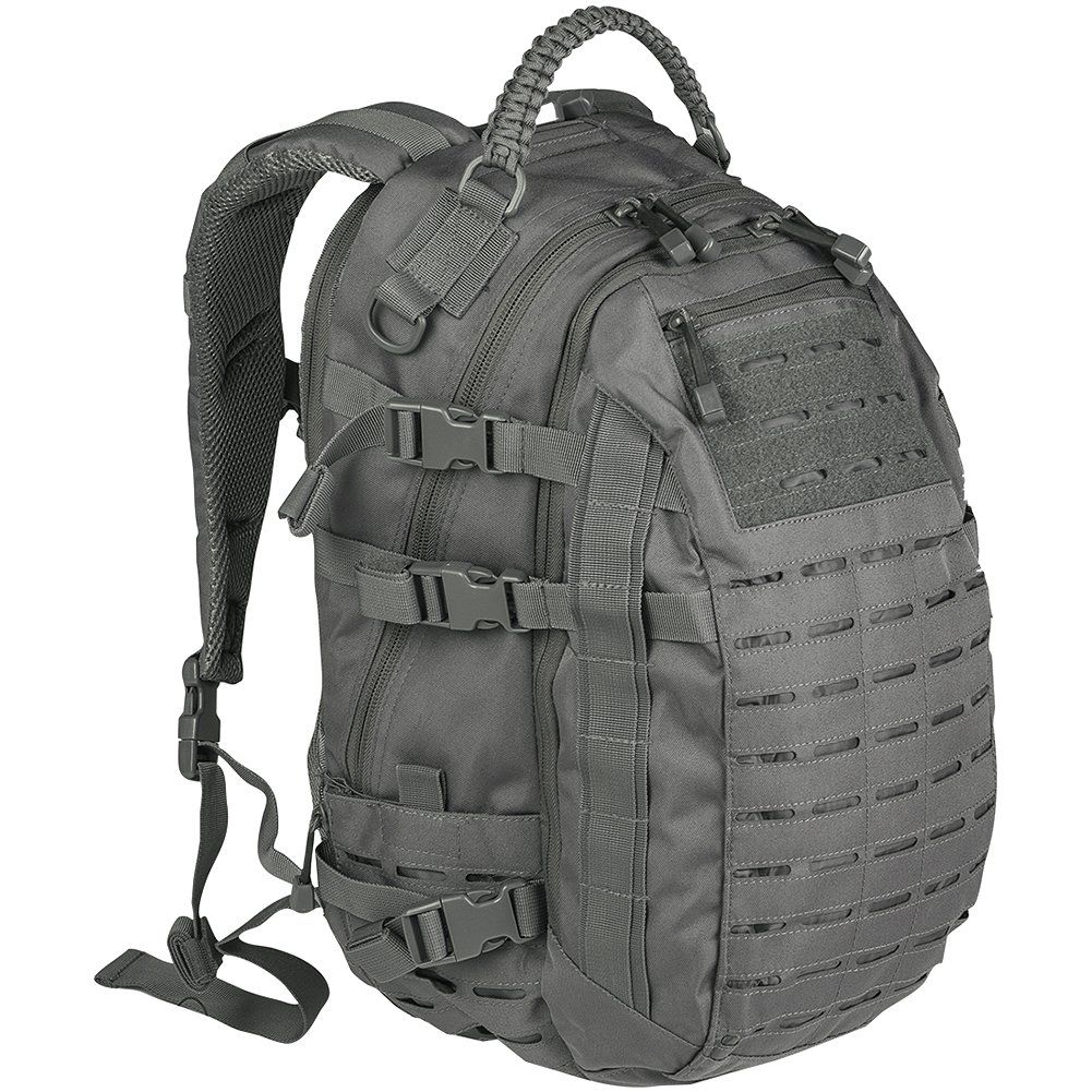 Mil-Tec Mission Pack Laser Cut Large Tactical MOLLE Backpack Army Bag Urban Grey