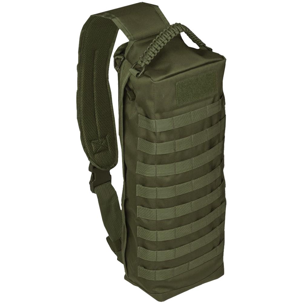 Sentinel Mil Tec Sling Bag Tanker Army Combat Patrol Military Molle Padded Backpack Olive
