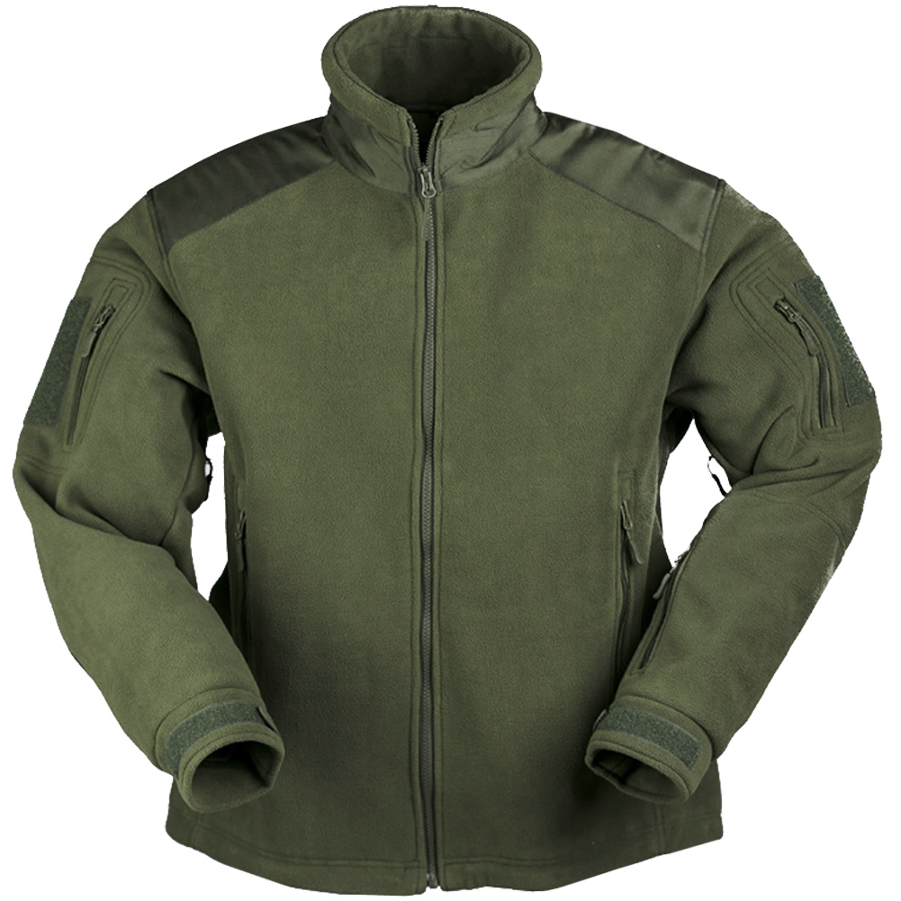 Mil-Tec Delta Fleece Jacket Security Tactical Adjustable Mens Warm Cover  Olive | eBay