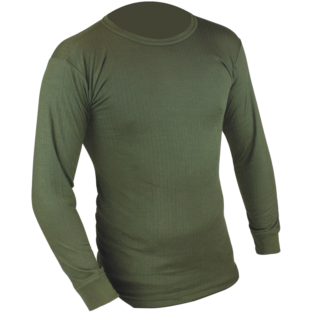 Highlander Mens Thermal Vest Long Sleeve Olive