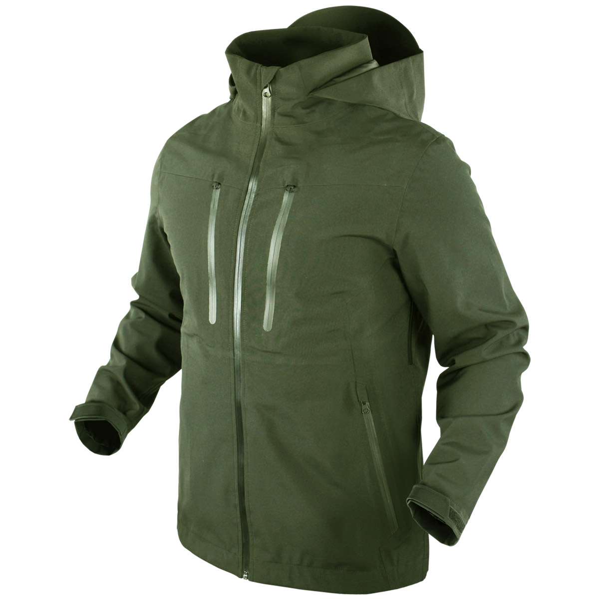 60d17039 Sentinel Condor Aegis Hardshell Hooded Jacket Military Mens Waterproof  Parka Olive Drab