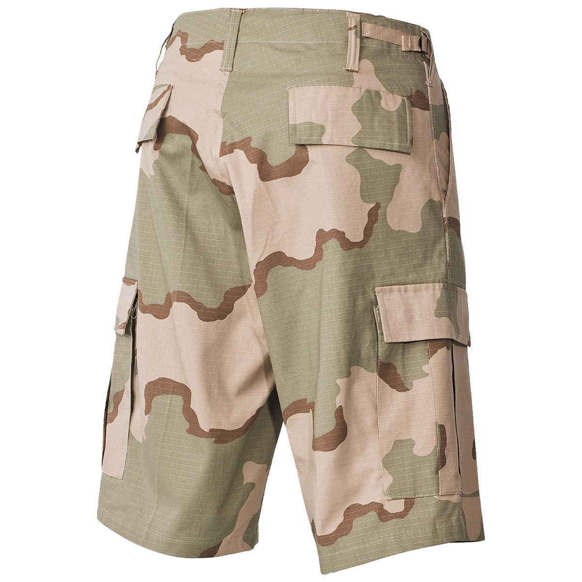 MFH Mens Bermuda US BDU Patrol Cargo Shorts Cotton Ripstop 3-Colour Desert Camo