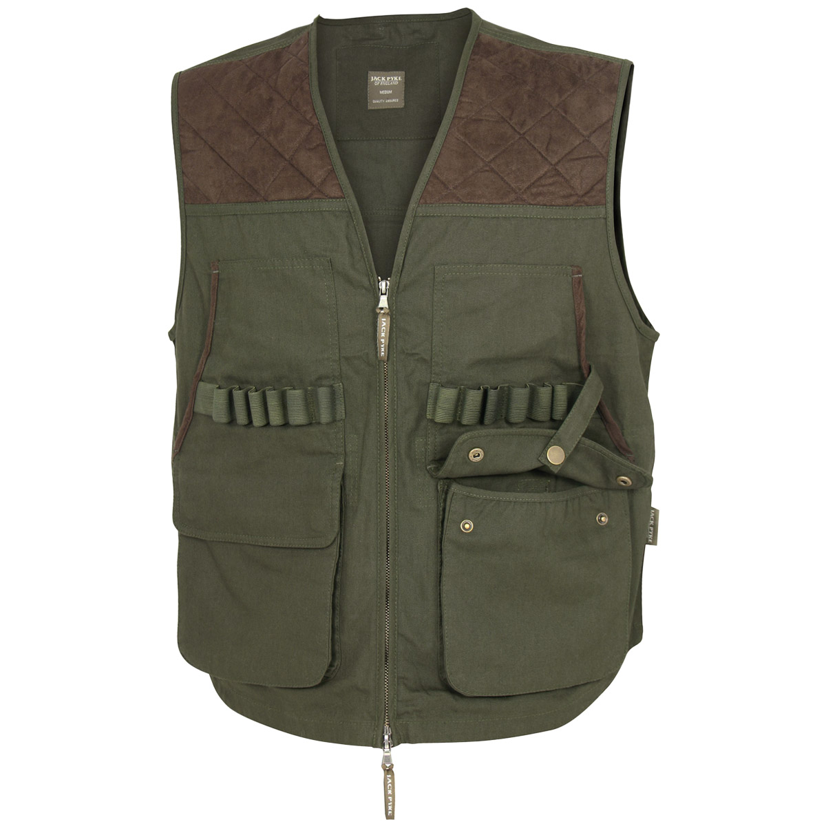 Jack pyke countryman shooting hunting fishing mens vest for Green top hunting and fishing