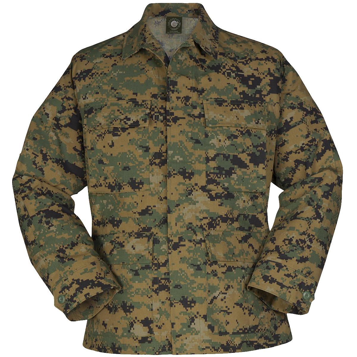 Details about Propper Uniform BDU Coat Army Mens Combat Work Uniform Digital  Woodland Camo a7536c2e135