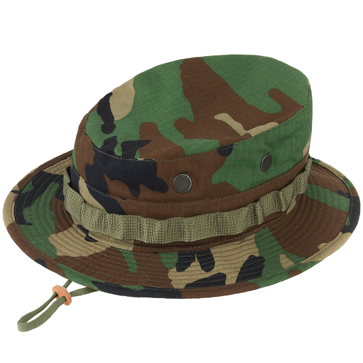 Details about Propper Boonie Hat Mens Cotton Military Security Giggle  Wide-Brim Woodland Camo b88590e53aa