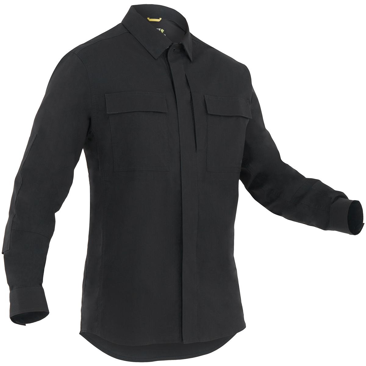 bd5c7232bea Sentinel First Tactical Tactix Hombres Manga Larga Bdu Camiseta Policía  Seguridad Negro