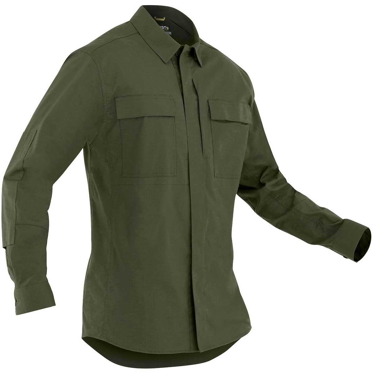 b57cb2d4837 Details about First Tactical Mens Tactix Long Sleeve BDU Shirt Hunting  Ripstop Top OD Green