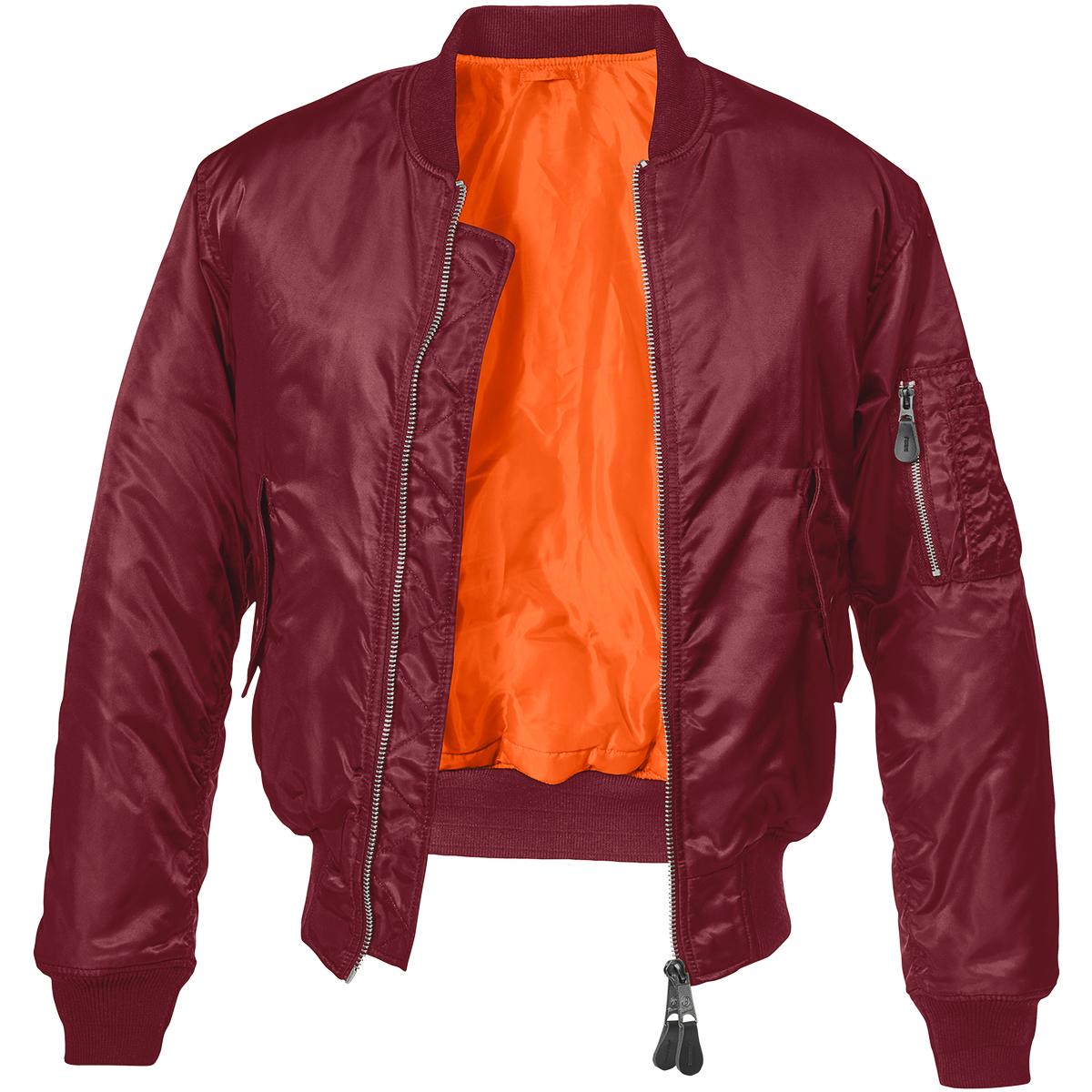 Brandit ma jacket burgundy flight military st