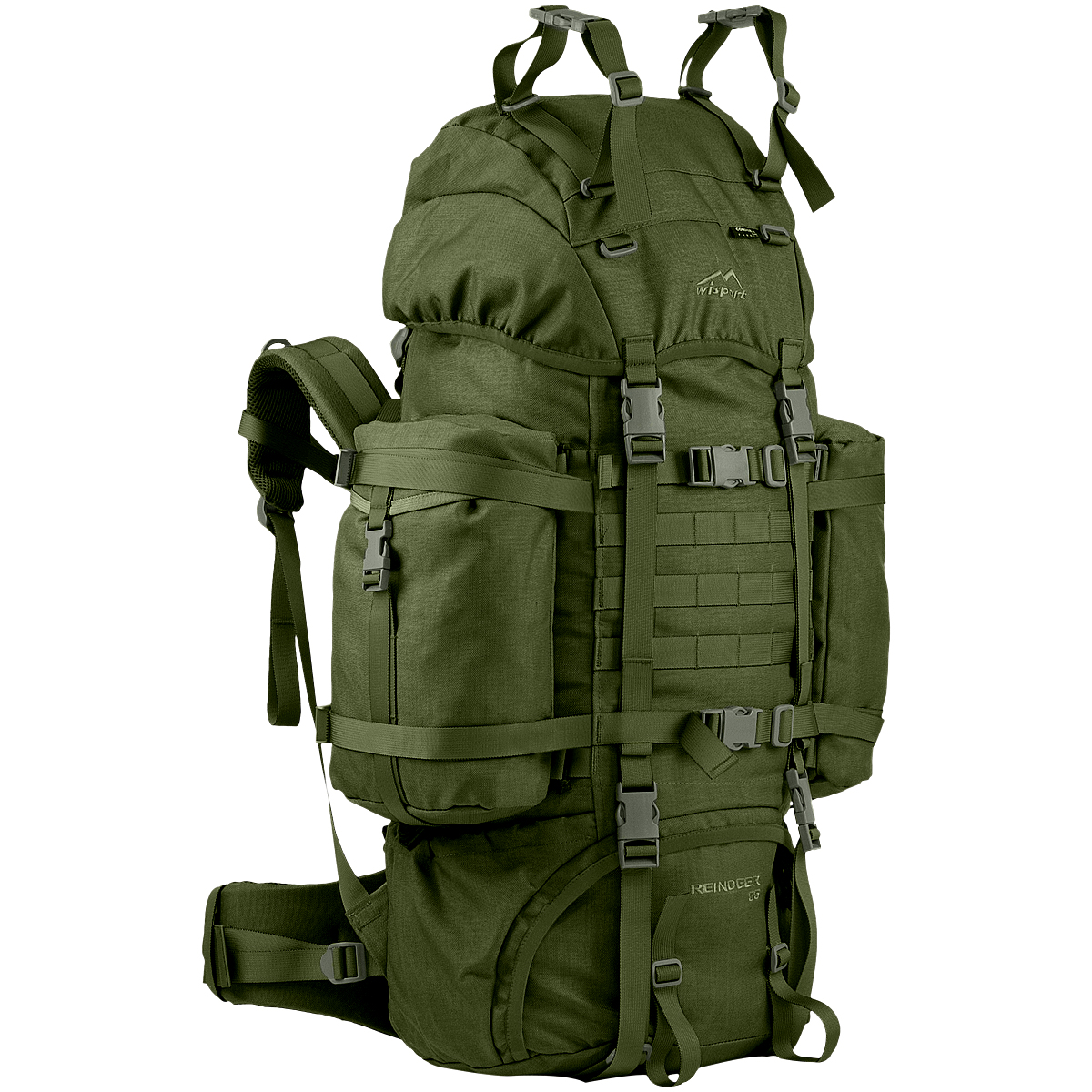 Olive 75L ARMY RANGER RUCKSACK Military Style Camping Hiking Patrol Backpack Bag