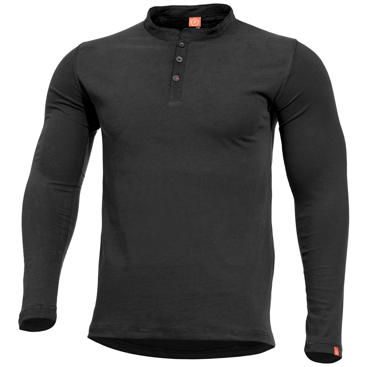 7f7b2a207b26d Details about Pentagon Romeo Henley Shirt Police Security Tactical Sport  Mens Cotton Top Black