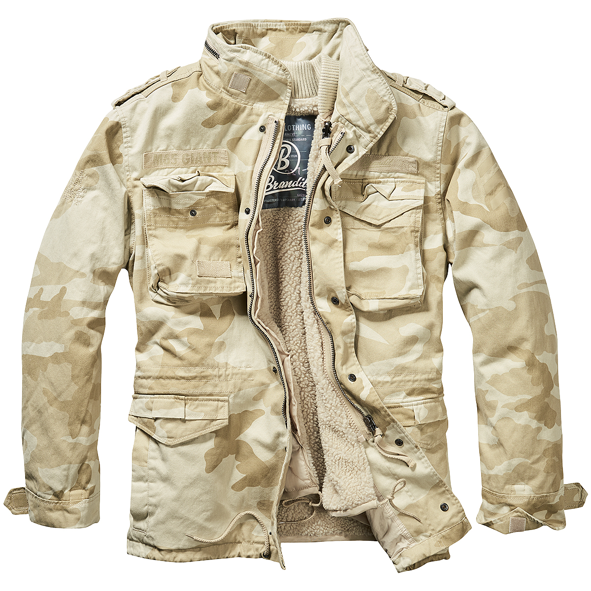 Details about Brandit M 65 Giant Jacket Military Tactical Mens Warm Field Parka Sandstorm Camo