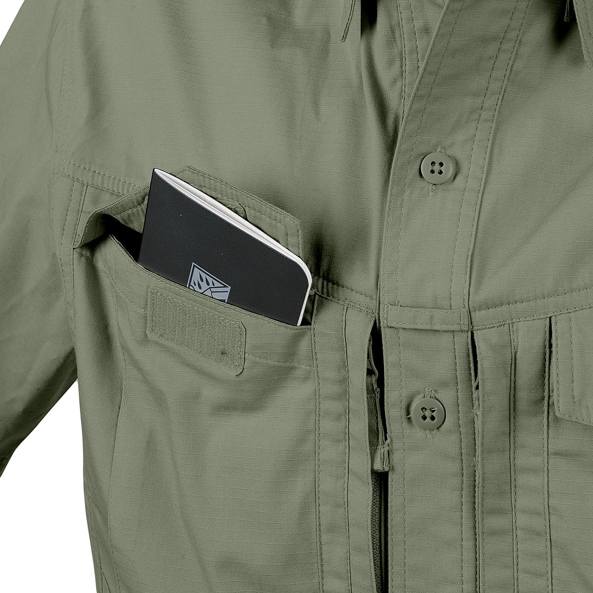 Helikon Tex Defender MK2 Shirt Short Sleeve Polycotton Ripstop Khaki